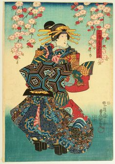 Utagawa Kunisada: Beauty Makinoe - Artelino