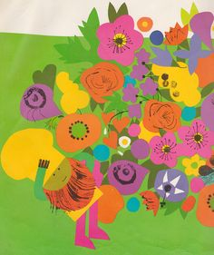 The Great Flower Pie - written by Andrea DiNota, illustrated by Lois Ehlert (1973).