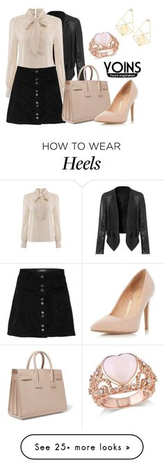 """""""YOINS SKIRT"""" by milovanovic on Polyvore featuring Yves Saint Laurent, Dorothy Perkins, Amour, women's clothing, women, female, woman, misses, juniors and yoins"""