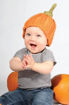 Sweetie Pumpkin Pie Hat in Spud & Chloe Outer, an adorable Halloween pattern for your little one! Find this pattern and more knitting inspiration at LoveKnitting.Com.