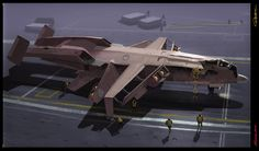 ArtStation - VTOL carrier design, E wo kaku Peter