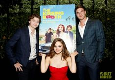 Joey King, Jacob Elordi & Joel Courtney at the premier of new movie Kissing Booth