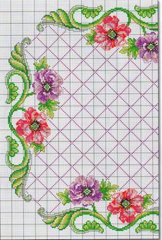 Cross Stitch Borders, Cross Stitch Designs, Cross Stitch Patterns, Smoke Bomb Photography, Back Stitch, Bargello, Cross Stitch Embroidery, Crochet Stitches, Needlepoint