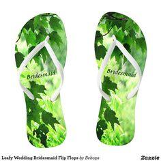 7a3d037519edbf Leafy Wedding Bridesmaid Flip Flops