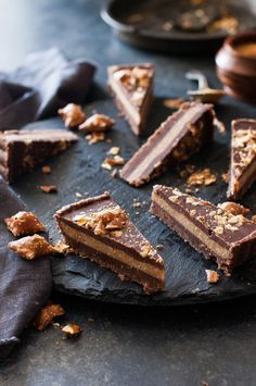 Mostly Raw Chocolate Peanut Butter Truffle Tart - The Kitchen McCabe