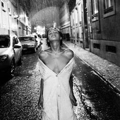 """""""The words of a song came immediately to mind """"…release your inhibitions..feel the rain on your face…""""…the moments we live in the present are always incredible. """"   sblzk:    Saintly rain byViki Kollerová (tristezza)"""