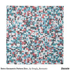 Retro Geometric Pattern Duvet Cover