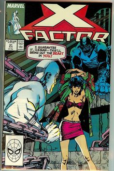 X-FACTOR 31 … Marvel comics … On the cover : Infectia , Iceman , Beast