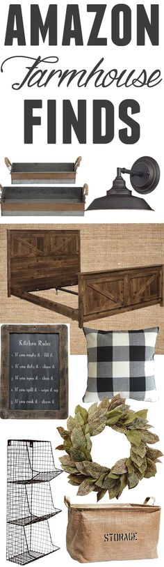 Farmhouse finds from amazon! I have written a few of these posts and its seems I'm not the only one who loves a good round of farmhouse decor items!!! We just finished up some big changes to our home including adding wainscoting to our formal living room and repainting the 16 ft walls!! ....