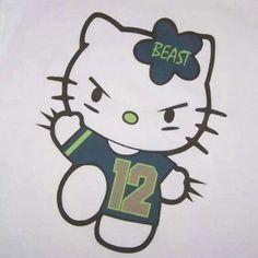 Hello Kitty Seattle Seahawks