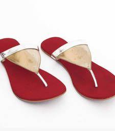 Buy Radiant Red Triangle flat footwear online