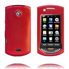 Hard Shell Snap-On (Rød) Samsung S5620 Monte Deksel