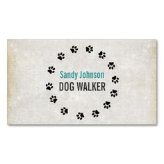 Dog Walker Walking Pet Sitting Services Business Business Card Template. I love this design! It is available for customization or ready to buy as is. All you need is to add your business info to this template then place the order. It will ship within 24 hours. Just click the image to make your own!