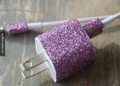 Glitter!!! You can use nail polish, or just glue and glitter.