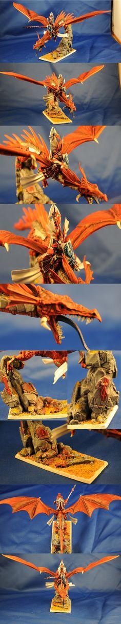 High Elf Prince on Dragon