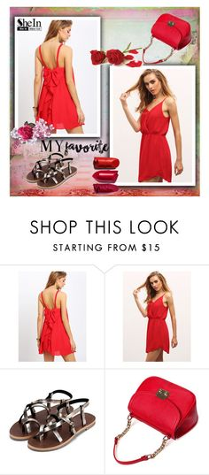"""""""My favourite colour :)"""" by red-rose-girl ❤ liked on Polyvore featuring Summer, Sheinside and shein"""