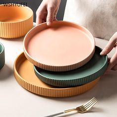 Stelle Dinnerware and Accent Plates Unique Colors, Vivid Colors, Kitchen Necessities, Country Living Magazine, Ceramic Materials, Paint Finishes, Light Decorations, Dinnerware, Plates