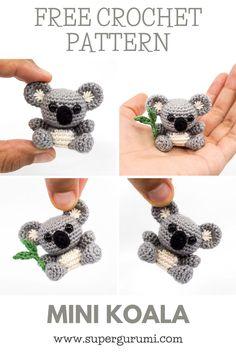 Crochet Amigurumi Free Patterns, Crochet Animal Patterns, Crochet Dolls, Crochet Keyring Free Pattern, Crochet Animals, Crochet Gifts, Cute Crochet, Easy Crochet, Crochet Keychain