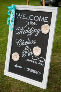 Wedding Chalkboard Sign Diy