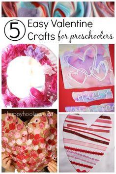 Easy valentine crafts for preschool :: toddler valentine crafts