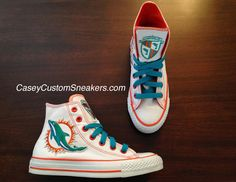Miami Dolphins Chucks!! A must have..