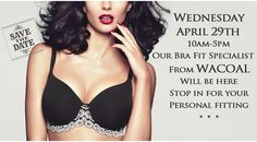 64% of women are wearing the wrong size bra. Are you one of them? Visit us on 4/29, and meet with a #Wacoal fit specialist for free!  Life's too short, know your size... #boco #downtownboulder #perfectfit  Christina's Luxuries 2425 Canyon Blvd. Suite 100  Boulder, CO 80302  T (303) 443 2421 www.christinasluxuries.com