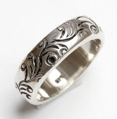 One, Vintage Bali Sterling Silver 925 Wide wedding type band ring size UK: P  / USA - 7.5  - please refer to images for guidance