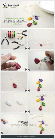 Jewelry Making Tutorial--DIY Necklace with Colorful Gemstone Pendants | PandaHall Beads Jewelry Blog