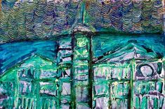 Abstract Cityscape created mainly with a pallette knife. Graham, Abstract Art, Museum, City, Canvas, Gallery, Fun, House, Painting