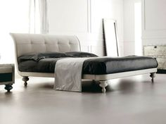 Leather double bed KEOPE II Keope Collection by CorteZari | design Archirivolto