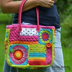 Crochet pattern  Crazy rainbow bag  by VendulkaM  crochet