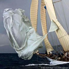Sailing yacht spinnaker