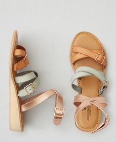 American Eagle Strappy Ankle Wrap Sandals Cute Sandals, Ankle Wrap Sandals, Cute Shoes, Me Too Shoes, Zapatos Shoes, New Shoes, Sock Shoes, Chic, Shoe Closet