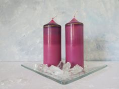 Radiant orchid soy candles radiant orchid soy by CandlesbyDeganit, $23.00
