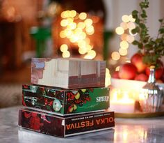 Try This Christmas DIY Craft Project:  Gift Boxes from Recycled Album Covers   Aunt Peaches