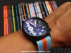 Stunning watch from the Le Mans Collection at Maurice de Mauriac. http://mauricedemauriac.ch/  watches for men