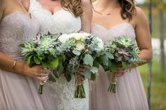 Loved it! Pinned it! A Blooming Envy Design! Wedding Bouquet made with Succulents. Photo by cjphotogallery.net