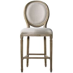 Curations Limited Vintage Louis Back Counter Stool 8828.3004.A008