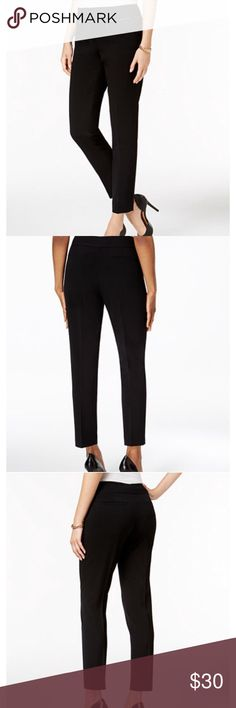 Nine West Slim Black Pant w/ Zipper Pockets Brand new never worn with tag as seen in last photo!! See photos for product details and size chart!! 💗 Selling on Macy's for $57. Nine West Pants Straight Leg