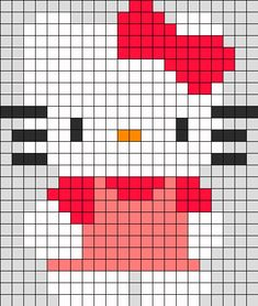 Hello Kitty Perler Bead Pattern | Bead Sprites | Characters Fuse Bead Patterns