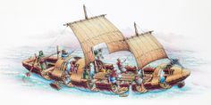"""Irish curragh - vessel used in 500 ad by the Irish and thought to have been used by St Brenden the navigator to reach the """"blessed land"""" to the west. many suspect that this is the new world"""