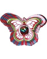 Gazing Ball Butterfly Wind Spinner - D1515-10