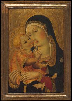 Workshop of Sano di Pietro, aka Ansano di Pietro di Mencio (1405-1481) — Madonna and Child, c. 1448-1460 : The Metropolitan Museum, New York, NY. USA (2660x3722)