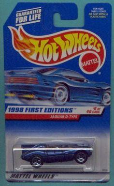Hot Wheels 1998 First Editions Blue Jaguar D-Type 1:64 Scale Collectible Die Cast Car #006