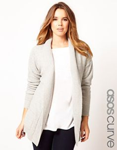 ASOS Curve | ASOS CURVE Slouchy Cardigan With Pockets at ASOS