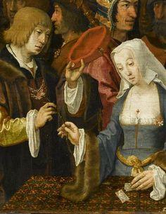 La Tireuse de cartes  Lucas de Leyde (dit), van Leyden Lucas (1494-1533)