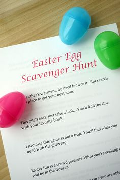 Super Fun Free Printable - Easter Egg Scavenger Hunt Clues