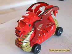 PineCar Derby - cool dragon car