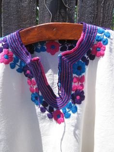 Vintage Hand Embroidered Top by jenEembroidery on Etsy, $34.00
