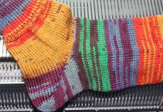 TOM MACHINE KNITTING GUY: Eliminating Heel Holes In Double Bed Machine Knit Socks
